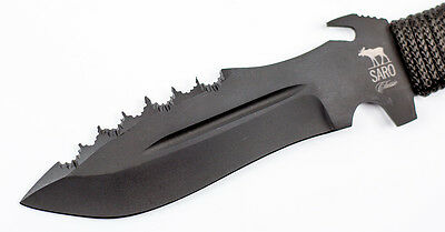 Russian Tactical PLASTUN Knife tool survival cord handle by SARO Russia