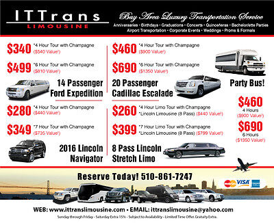 Bay Area Limo Deal 50% OFF