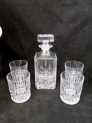 Godinger Silver Art Oxford Crystal Collection Whiskey Decanter With Stopper