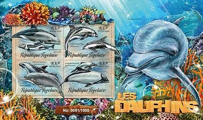 Z08 Imperforated TG16206a TOGO 2016 Dolphins MNH