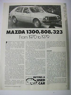 Mazda 1300 808 & 323 From 1970 To 1979 Secondhand Car Buying Guide