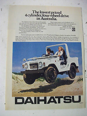 1976 Daihatsu 4 Wheel Drive Australian Magazine Fullpage Colour Advertisement