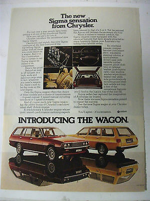 1978 Mitsubishi Sigma Wagon Australian Magazine Fullpage Colour Advertisement