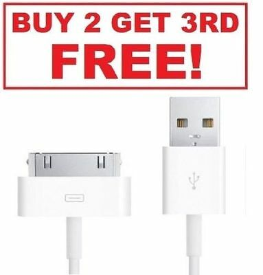 3FT USB 30 Pin Data Sync Charging Cable Charger Cord Dock For Apple iPhone 4 4S
