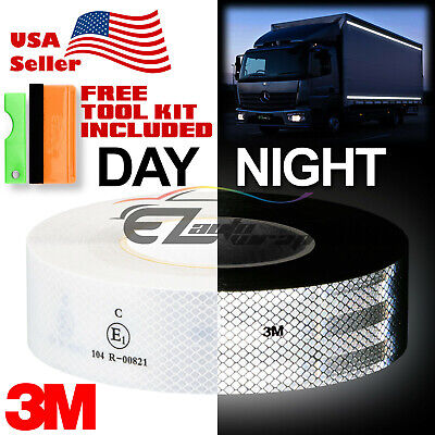 """3M 2""""x150' Diamond Grade White Conspicuity Tape CE Approved Reflective Safety"""