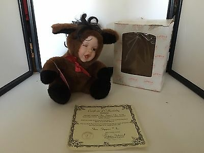 Show-Stoppers Babes In The Wild Porcelain Face Plush Doll Animals BUCKAROO Horse