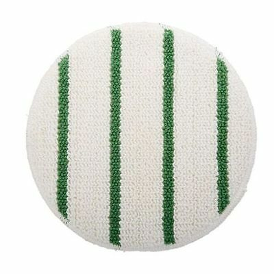 RUBBERMAID FGP26700WH00 Carpet Bonnet, 17 Inch White with a Green Stripe