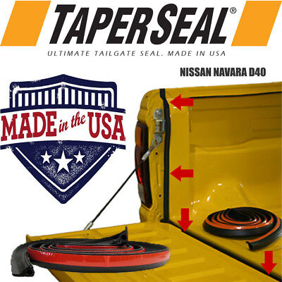 Nissan Navara D40 Rubber Ute Dust Tailgate Seal Kit (Made In Usa)