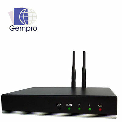 Gempro GP-712 VoIP Bluetooth Gateway 2 x SIP Channel Asterisk 3CX