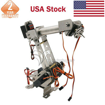 6DOF Mechanical Robotic Arm Clamp w/Servos DIY Kit f/Robot Smart Car Arduino US