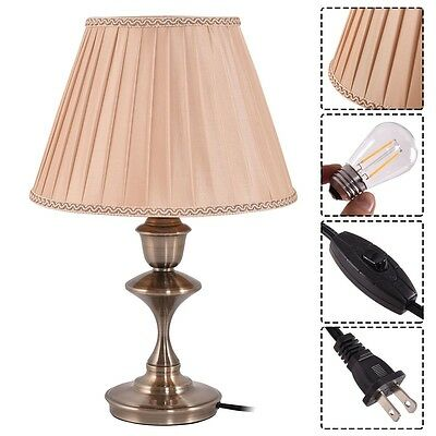 Home Antique Br Led Bulb Table Lamp Lighting Desk Study Bedroom Light Us