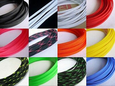 24 Color 8mm Encryption Braided Cable Sleeving/Sheathing/Auto Wire Harnessing