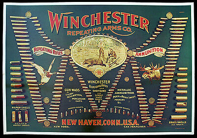 Winchester Double W Cartridge Board Reproduction
