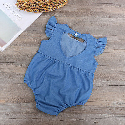 Newborn Baby Kid Girl Romper Bodysuit Holiday Jumpsuit Playsuit Clothes Outfits
