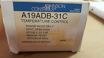 A19ADB-31C Johnson Controls Temperature Control Remote Bulb BNIB