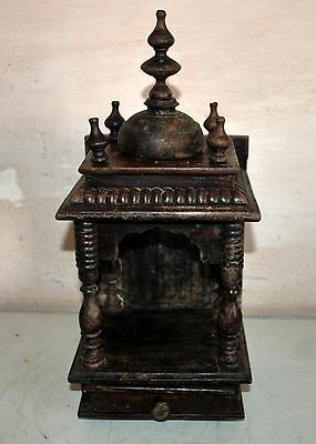 Antique Original Hand Carved Fine Art Wooden Worship Temple Collectible