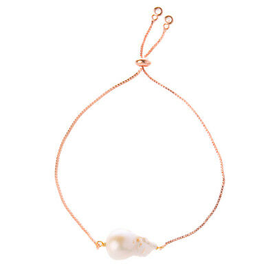 NEW Bowerhaus Pearl Chain Rose-Gold Bracelet