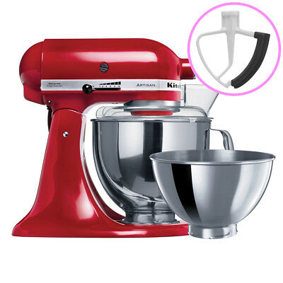 NEW KitchenAid Artisan KSM160 Empire Red Mixer + Flex Beater