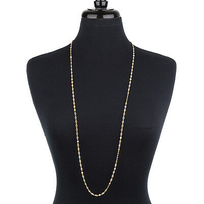 NEW Bowerhaus Diamond & Pearl Chain Gold Necklace