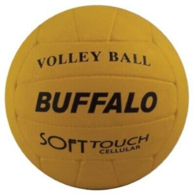 Buffalo Sports Cellular Rubber Volleyball - White / Yellow (Voll009)