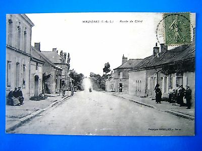 Cpa   Mazieres-Route De Clere-Animee