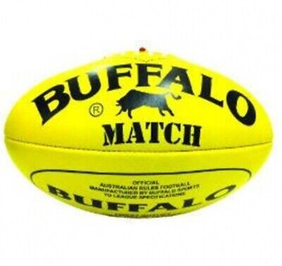 Buffalo Sports Match Leather Afl Football - Multiple Sizes - Red/yellow
