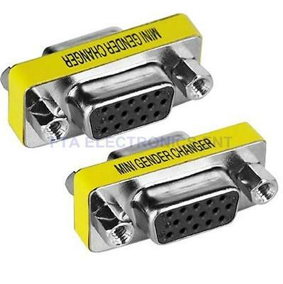 VGA SVGA 15pin Gender Changer Adapter Female to Female Cable Extender Connector