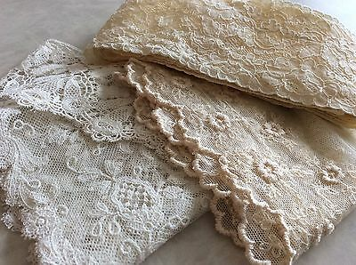 Antique French Dolls Luscious Lace Tambour Alencon Embroidered Net Trims