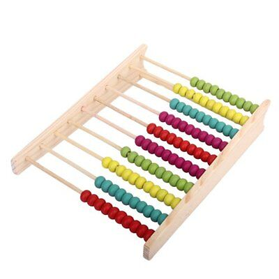 New Wooden Children Toy Bead Abacus Counting Number Frame Educational Maths