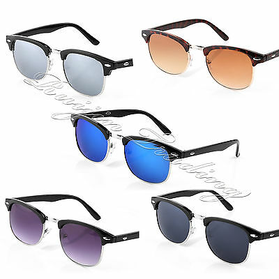 BULK Clubmaster Sunglasses Unisex Wholesale Classic Mens Ladies UV400 Mirrored