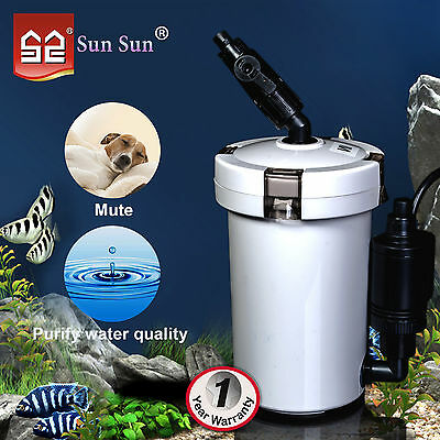 6W Aquarium External Filter Canister Fish Tank Water Pump Pond Sponge Foam Media