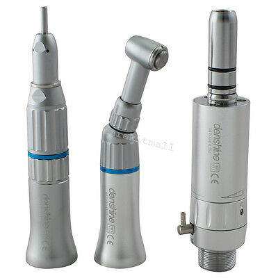CE Low Speed dental Handpiece kit 2 Hole Contra Angle Air Motor Straight cone A+