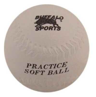 Buffalo Sports Rubber Softball - 12 Inch - Fully Moulded Rubber (Base043)