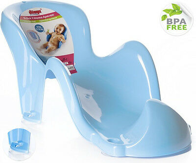 light Blue First Baby Anatomic Newborn Bath Tub Chair Support Fun Cradle Boy