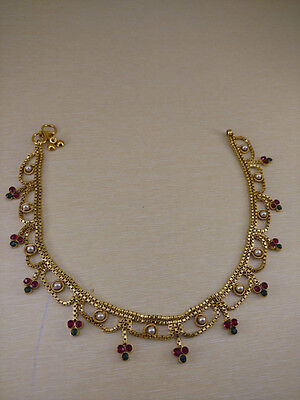 Indian Authentic Partywear Golden Anklets