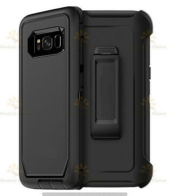 For Samsung Galaxy S8 / S8 Plus Defender Rugged Case Cover (Clip Fits Otterbox)