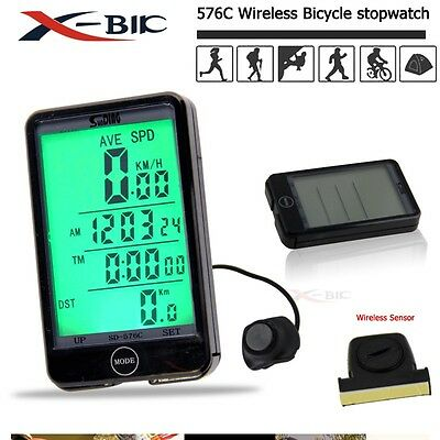 Hot WIRELESS BICYCLE CYCLE COMPUTER BIKE SPEEDOMETER + TOUCH! CA Stock