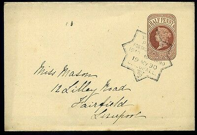 Newspaper Wrapper 1890 Penny Postage Jubilee 19 May Guildhall Cancel