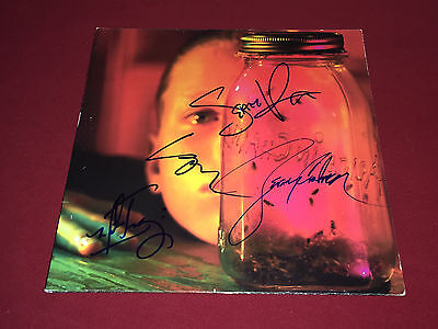 Alice In Chains Signed Lp Autographed Jar Of Flies X4 Layne Staley Proof
