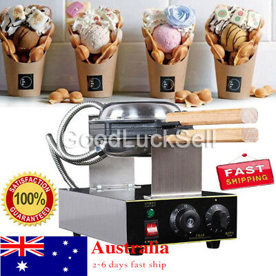 220V Electric Egg Cake Oven Puff Bread Maker Stainless Steel Waffle Bake Machine