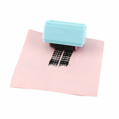 Roller Messy Code Mini Privacy Confidential Blue/Pink Color Portable Stamp PR