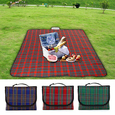 3 Colors Large Picnic Blanket Waterproof Rug Travel Outdoor Camping Mat Big Size