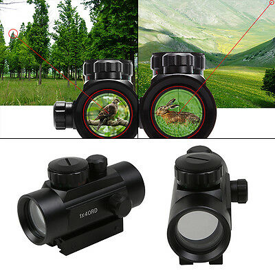 AU Holographic Tactical Red Green Dot Laser Sight Scope 11/20mm Mounts Military