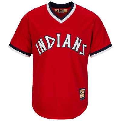 Cleveland Indians Majestic MLB AC Cool Base Cooperstown Jersey - Red