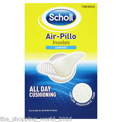 Scholl Air Pillo Comfort Shoe Insoles Cut to Foot Size - 1 Pair