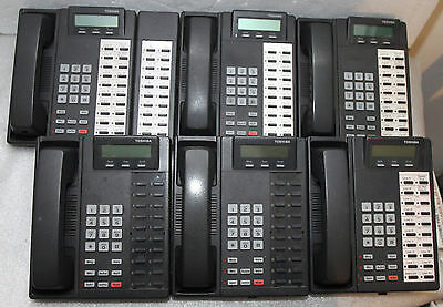 Lot 6 TOSHIBA DKT2020-SD Digital Business Phone w/ 1 Expansion Module DADM2020