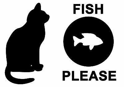 Fish Please Pet Cat A4 Feeding Food Mat - Laminated Card - Easy Wipe Clean