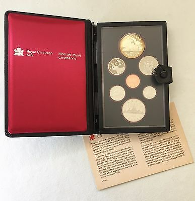 1981 CANADIAN PROOF SET - SILVER DOLLAR COMMEMORATES the TRANS-CANADA RAILWAY