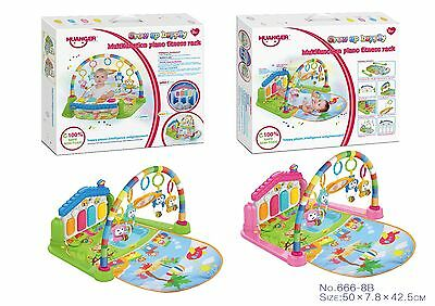 Baby Toddlers Kick Lay & Play Gym/Arch Mat Baby Toddler Piano Fitness Playmat UK