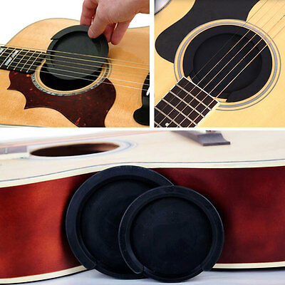 Acoustic Sound Hole Muffler Small Acoustic Guitar Feedback Suppressor Silicone